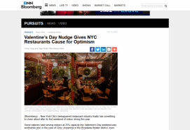 Valentine's Day Nudge Gives NYC Restaurants Cause for Optimism BNN Bloomberg