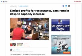 Limited profits for restaurants, bars remain despite capacity increase