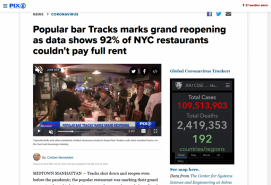 Popular bar Tracks marks grand reopening as data shows 92% of NYC restaurants couldn't pay full rent