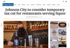 Johnson City to consider temporary tax cut for restaurants serving liquor