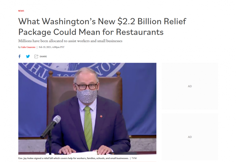 What Washington's New $2.2 Billion Relief Package Could Mean for Restaurants