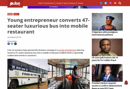 Young entrepreneur converts 47-seater luxurious bus into mobile restaurant