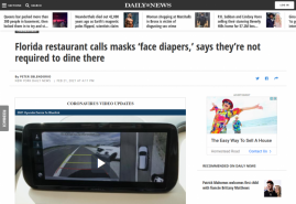 Florida restaurant calls masks 'face diapers,' says they're not required to dine there