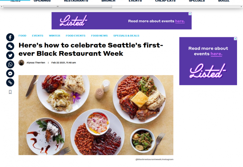Here's how to celebrate Seattle's first-ever Black Restaurant Week | Dished