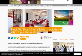 Final Abu Dhabi Chef's Table to include the city's top restaurants