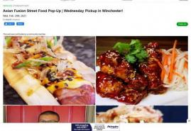Asian Fusion Street Food Pop-Up | Wednesday Pickup in Winchester!