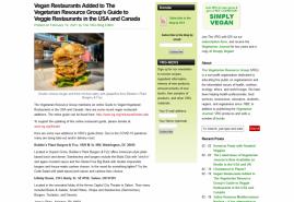 The Vegetarian Resource Group Blog