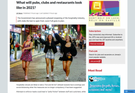 What will pubs, clubs and restaurants look like in 2021?