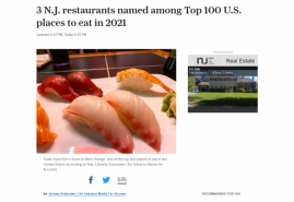 3 N.J. restaurants named among Top 100 U.S. places to eat in 2021