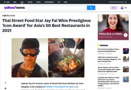 Thai Street Food Star Jay Fai Wins Prestigious 'Icon Award' for Asia's 50 Best Restaurants in 2021