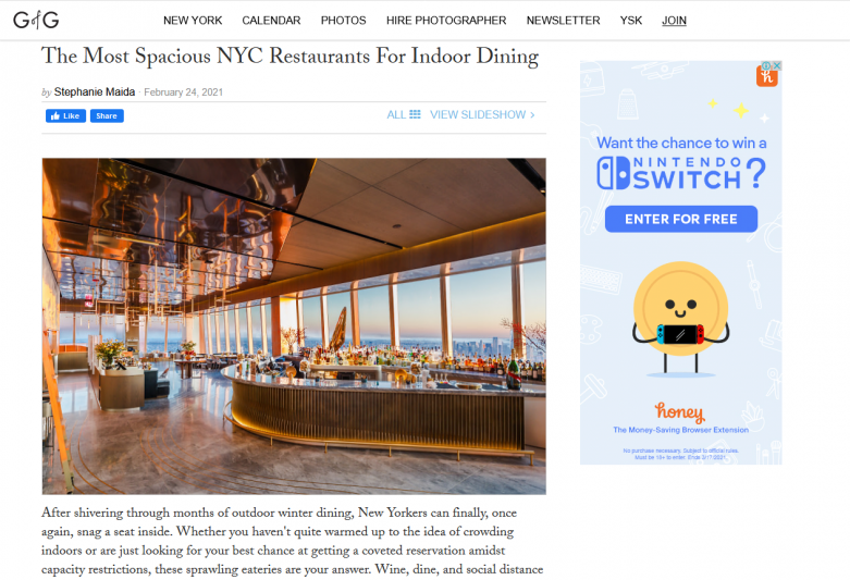 The Most Spacious NYC Restaurants For Indoor Dining