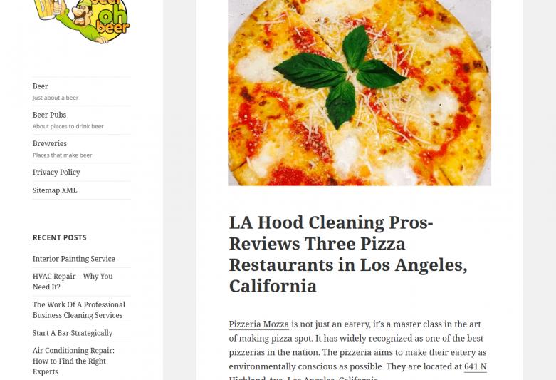 LA Hood Cleaning ProsReviews Three Pizza Restaurants in Los Angeles, California – Beer Oh Beer!