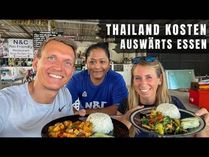 Was kostet auswärts essen in Thailand?  Thailand Kosten für Essen auf Koh Samui | VLOG #531