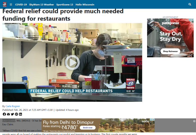 Federal relief could provide much needed funding for restaurants