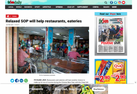 Relaxed SOP will help restaurants, eateries