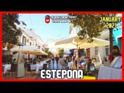 ESTEPONA OLD TOWN   Bars and Restaurants   COSTA DEL SOL, Province of MALAGA, SPAIN 4K 2021