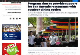 Program aims to provide support for San Antonio restaurants with outdoor dining option