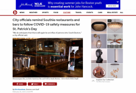 City officials remind Southie restaurants and bars to follow COVID-19 safety measures for St. Patrick's Day