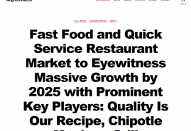 Fast Food and Quick Service Restaurant Market to Eyewitness Massive Growth by 2025 with Prominent Key Players: Quality Is Our Recipe, Chipotle Mexican Grill