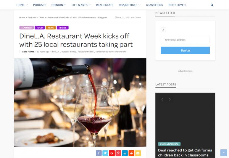 DineL.A. Restaurant Week kicks off with 25 local restaurants taking part