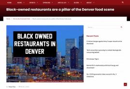 Black-owned restaurants are a pillar of the Denver food scene