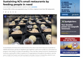 Sustaining NJ's small restaurants by feeding people in need | Video | NJ Spotlight News