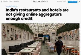 India's restaurants and hotels are not giving online aggregators enough credit