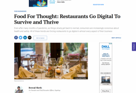 Food For Thought: Restaurants Go Digital To Survive and Thrive