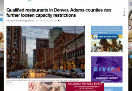 Qualified restaurants in Denver, Adams counties can further loosen capacity restrictions