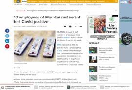 10 employees of Mumbai restaurant test Covid positive