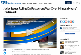 Judge Issues Ruling On Restaurant War Over 'Mimosa House' Trademark