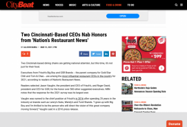 Two Cincinnati-Based CEOs Nab Honors from 'Nation's Restaurant News