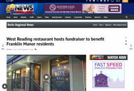 West Reading restaurant hosts fundraiser to benefit Franklin Manor residents