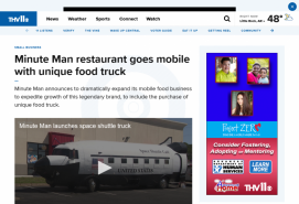 Minute Man restaurant goes mobile with unique food truck