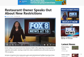 Restaurant Owner Speaks Out About New Restrictions