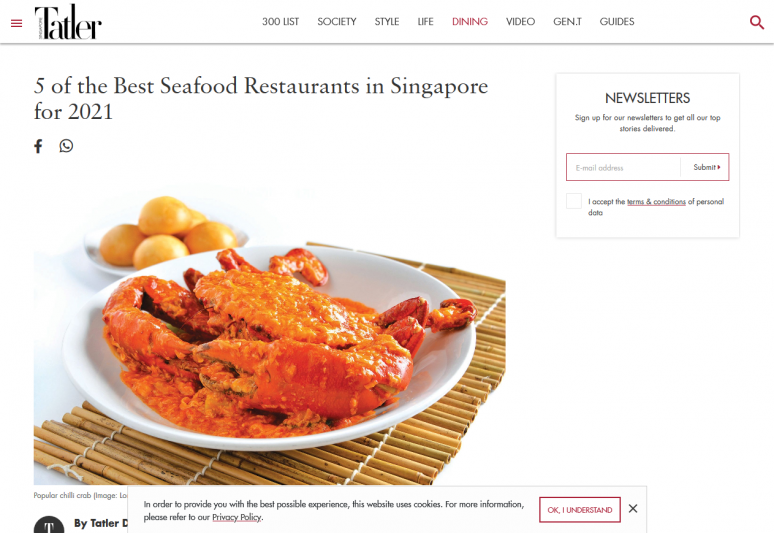 5 of the Best Seafood Restaurants in Singapore for 2021