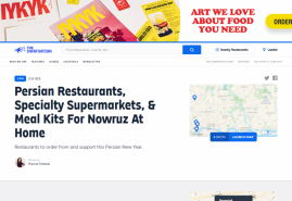Persian Restaurants, Specialty Supermarkets, & Meal Kits For Nowruz At Home London