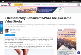3 Reasons Why Restaurant SPACs Are Awesome Value Stocks