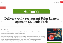 Delivery-only restaurant Paku Ramen opens in St. Louis Park