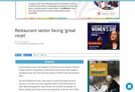 Restaurant sector facing 'great reset'