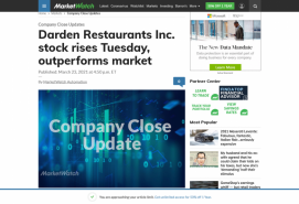 Darden Restaurants Inc. stock rises Tuesday, outperforms market