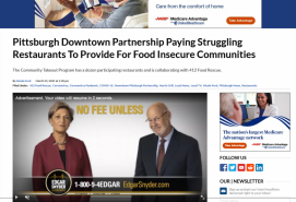 Pittsburgh Downtown Partnership Paying Struggling Restaurants To Provide For Food Insecure Communities