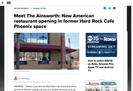 Meet The Ainsworth: New American restaurant opening in former Hard Rock Cafe Phoenix space