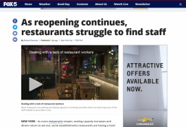 As reopening continues, restaurants struggle to find staff