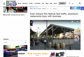 Even without film festival foot traffic, downtown restaurants busy with business