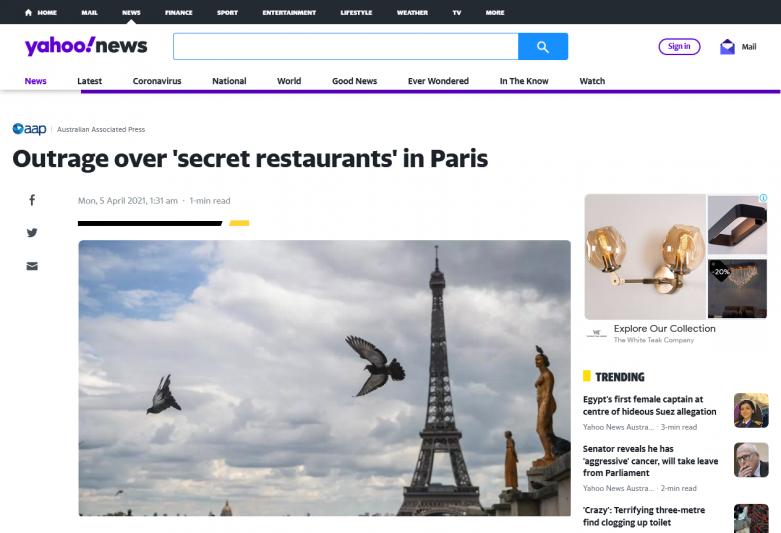 Outrage over 'secret restaurants' in Paris