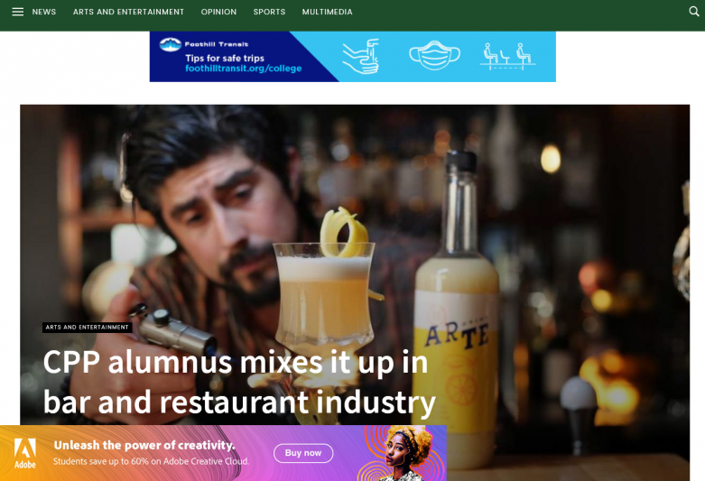 CPP alumnus mixes it up in bar and restaurant industry