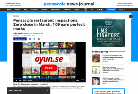 Pensacola restaurant inspections: Zero close in March, 109 earn perfect marks