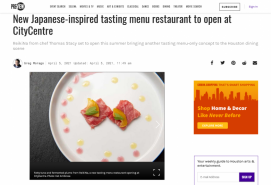 New Japanese-inspired tasting menu restaurant to open at CityCentre