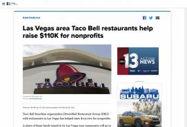 Las Vegas area Taco Bell restaurants help raise $110K for nonprofits
